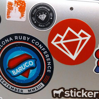 Slovenia RUG sticker on the Rubyburgers laptop's bottom